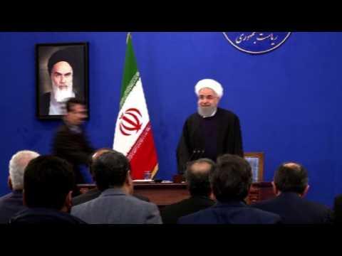 Iran: Rouhani gives presser on anniversary of Islamic revolution