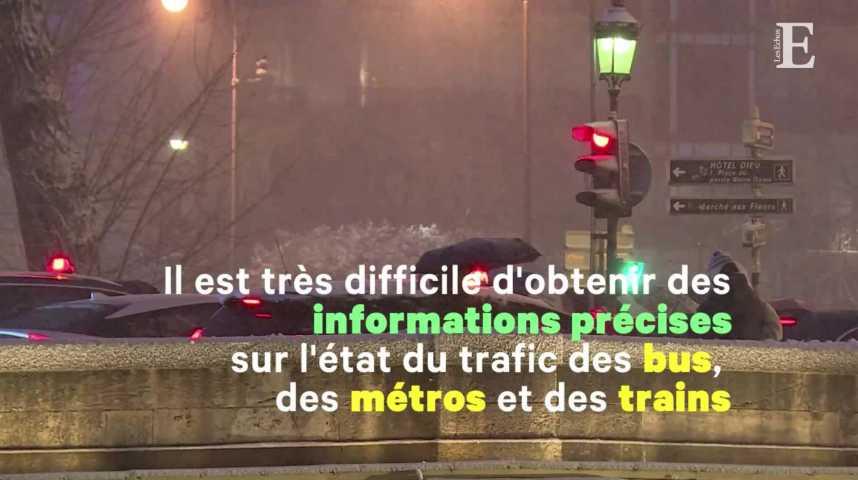 Illustration pour la vidéo Neige : la mauvaise comm' de la SNCF et de la RATP