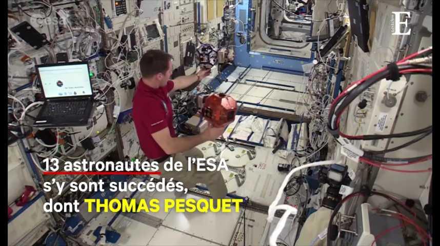 Illustration pour la vidéo Colombus : le module-laboratoire européen de l'ISS fête ses 10 ans
