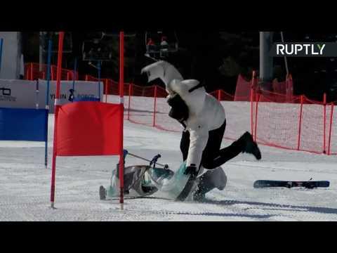 Robot Skiers Brush Up on Slalom Skills Ahead of World's First Ski Robot Challenge