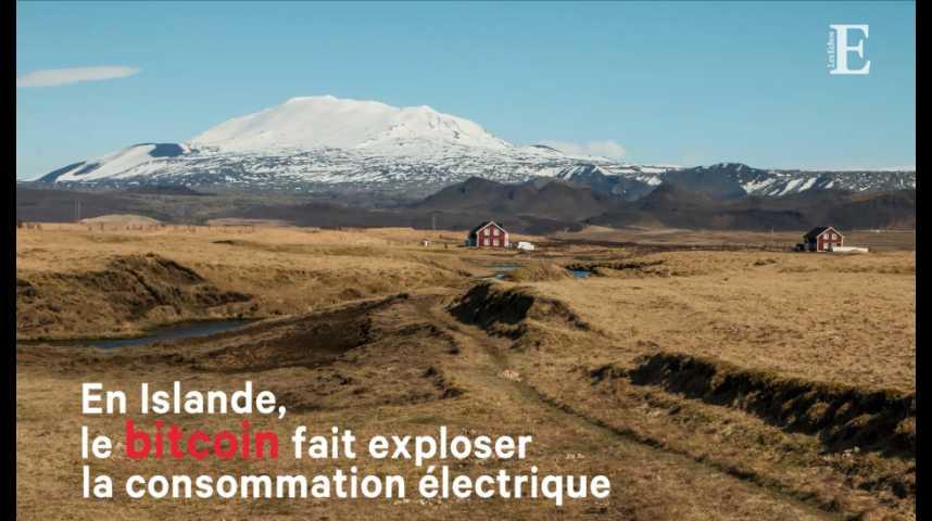 Illustration pour la vidéo Le bitcoin fait exploser la consommation électrique de l'Islande