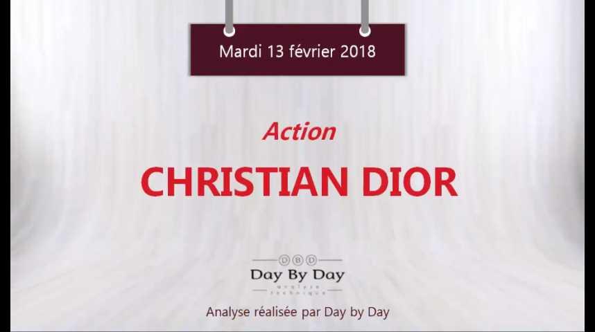 Illustration pour la vidéo Action Christian Dior : soutenu par sa moyenne mobile à 100 jours - Flash analyse IG 13.02.2018