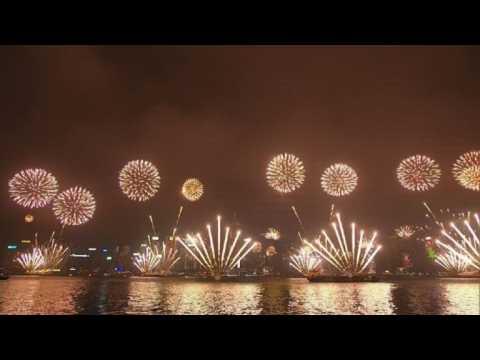 Hong Kong celebrates the start of 2018