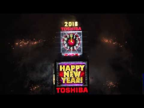 New Year ball drop on New York's Times Square