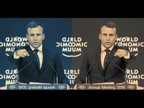 Macron à Davos : pro-business en anglais, social en français