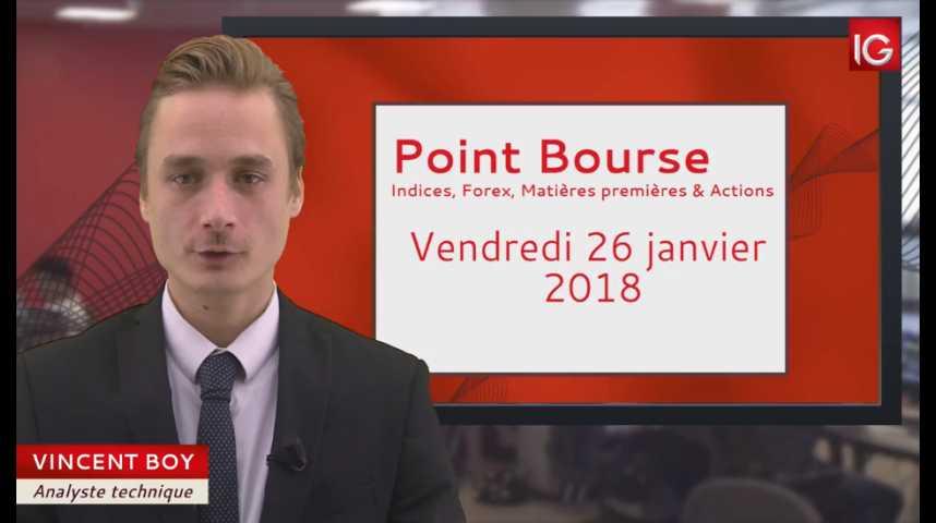 Illustration pour la vidéo Point Bourse du vendredi 26 janvier 2018