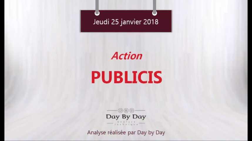 Illustration pour la vidéo Action Publicis : la tendance reste baissière - Flash analyse IG 25.01.2018