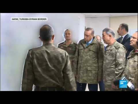 Turkish offensive in Syria: President Erdogan visits troops on Syrian border