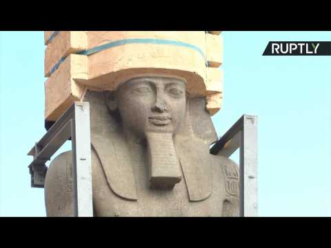 Colossal 82-Ton Ramses II Statue Moved to Grand Egyptian Museum