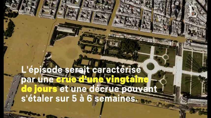 Illustration pour la vidéo Simulation : à quoi ressemblerait Paris sous une crue centennale ?