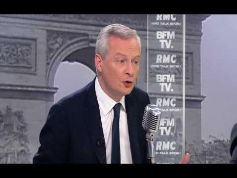 """Le Maire : """"Il n'y aura pas de nouvel impôt pendant le quinquennat"""""""