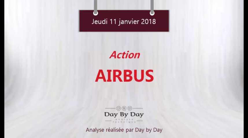 Illustration pour la vidéo Action Airbus : sortie de rectangle et nouveau plus haut historique - Flash Analyse IG 11.01.2018