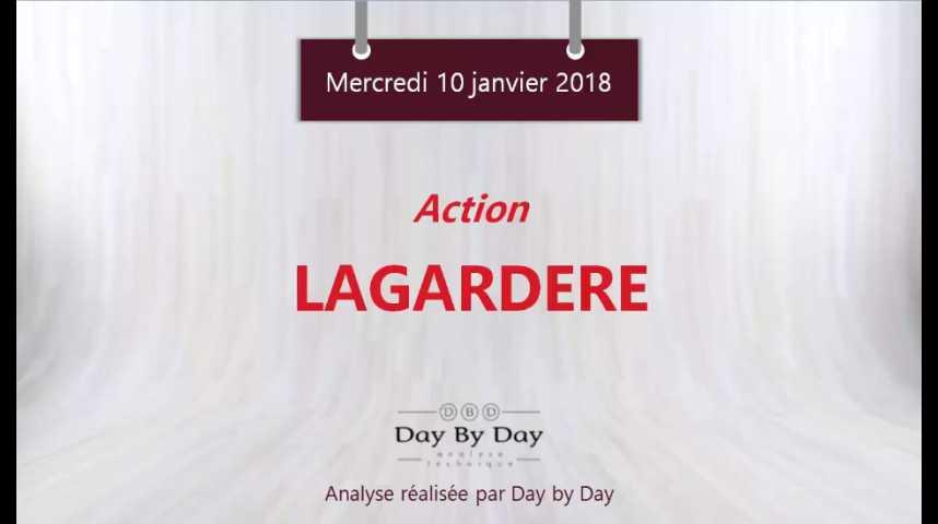 Illustration pour la vidéo Action Lagardère : la tendance reste baissière - Flash analyse IG 10.01.2018