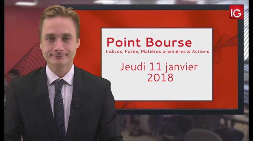 Illustration pour la vidéo Point Bourse IG du 11.01.2018