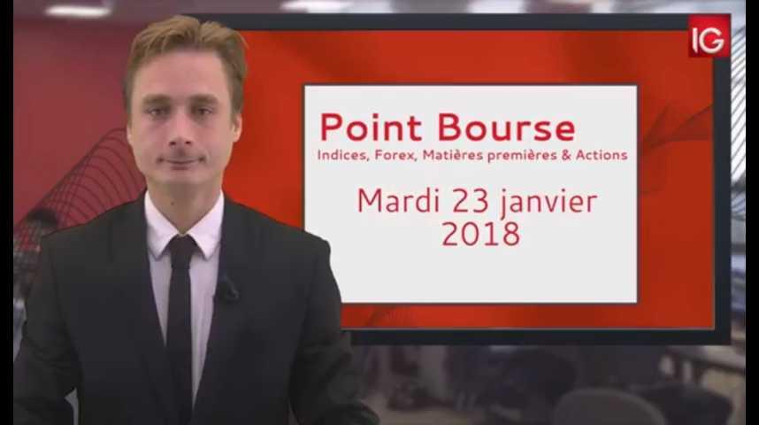 Illustration pour la vidéo Point Bourse IG du 23.01.2018