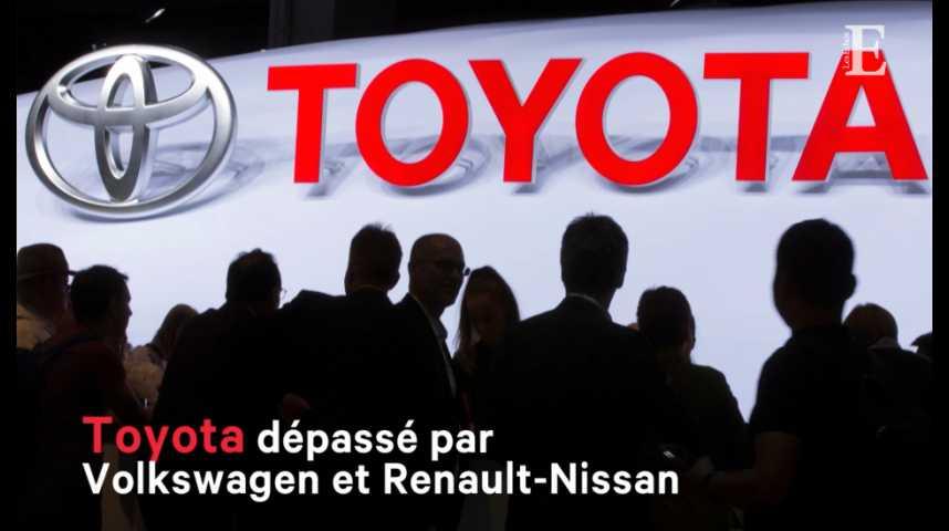 Illustration pour la vidéo Toyota dépassé par Volkswagen et Renault-Nissan