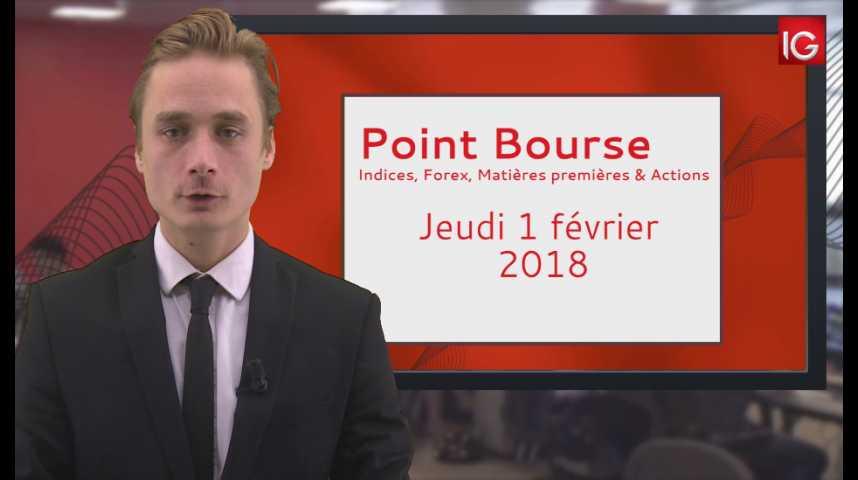Illustration pour la vidéo Point Bourse IG du 01.02.2018