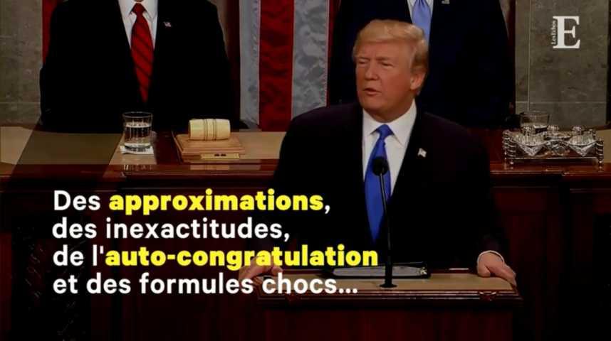 """Illustration pour la vidéo """"Trump a fait du Trump"""" : ce qu'il faut retenir du discours sur l'état de l'Union"""