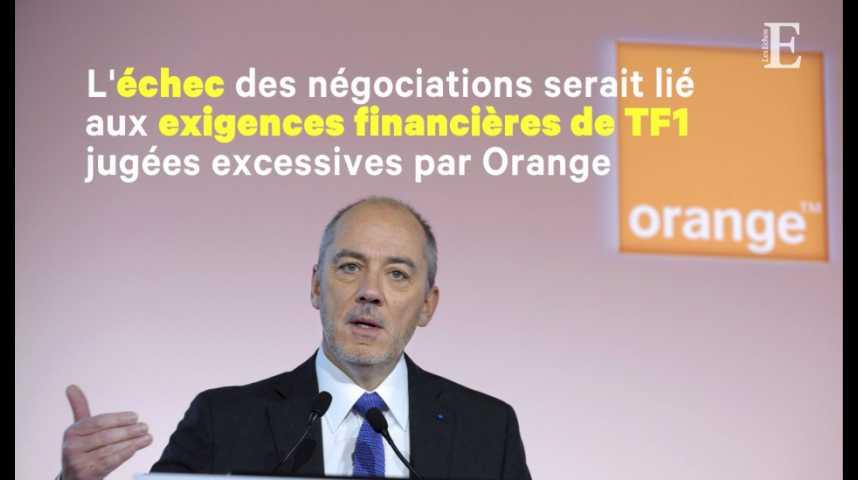 Illustration pour la vidéo TF1 demande à Orange de ne plus diffuser ses chaînes
