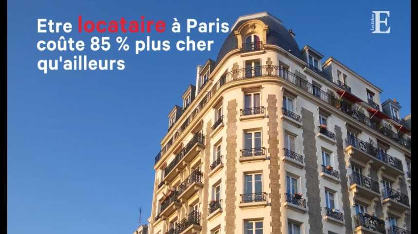 Illustration pour la vidéo Etre locataire à Paris coûte 85 % plus cher qu'ailleurs