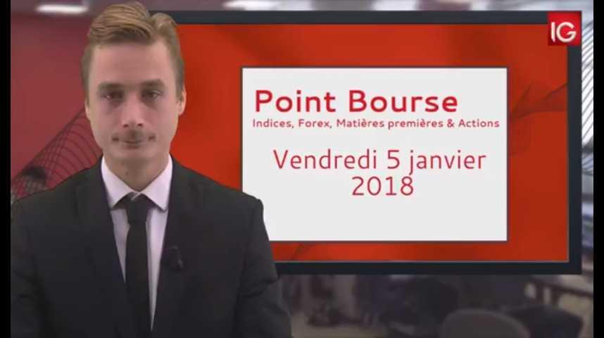 Illustration pour la vidéo Point Bourse IG du 05.01.2018