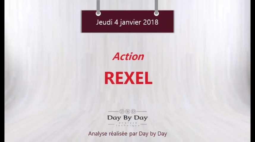 Illustration pour la vidéo Action Rexel : sortie de biseau et reprise de la hausse - Flash analyse IG 05.01.2018 HD