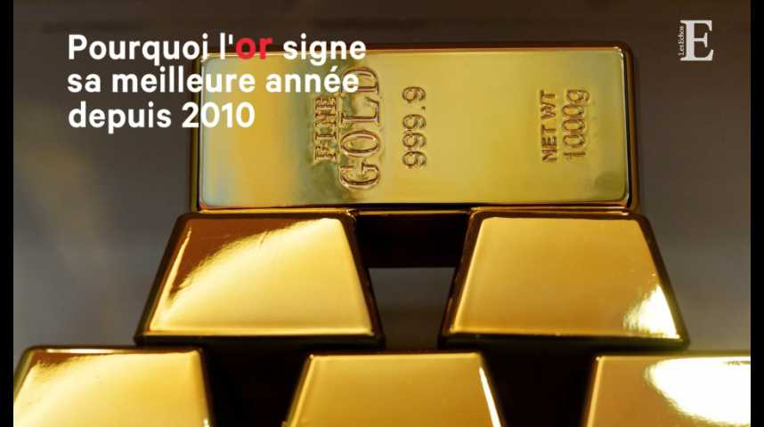Illustration pour la vidéo L'or signe sa meilleure année depuis 2010