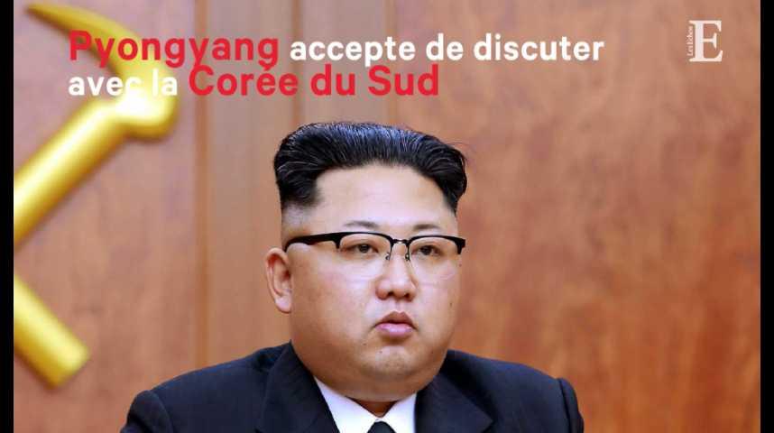 Illustration pour la vidéo Pyongyang accepte de discuter avec la Corée du Sud