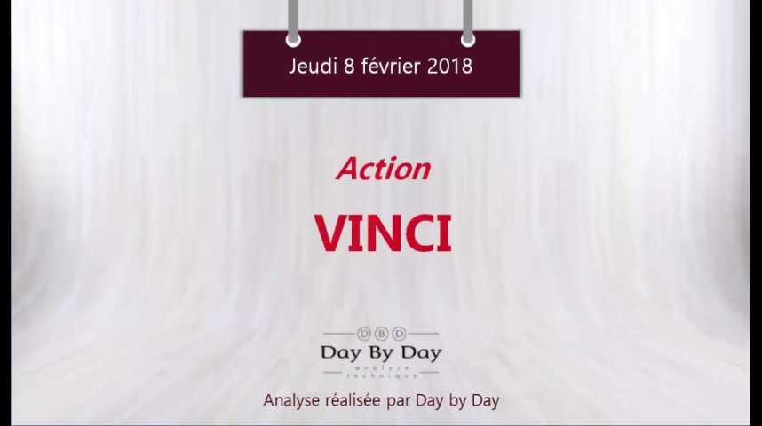 Illustration pour la vidéo Action Vinci - le titre est sorti par le bas de son trading range - Flash Analyse IG 08.02.2018
