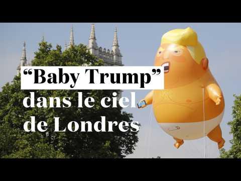 "Un ""Baby Trump"" dans le ciel de Londres"