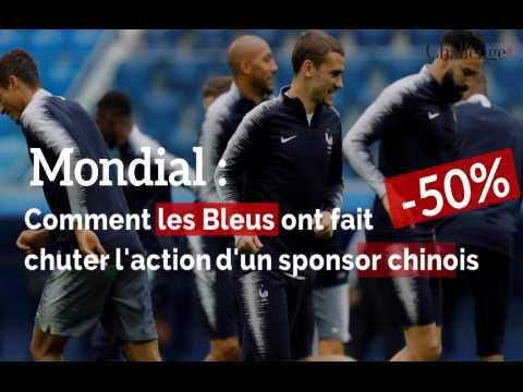 Comment les bleus ont fait chuter l'action d'un sponsor chinois