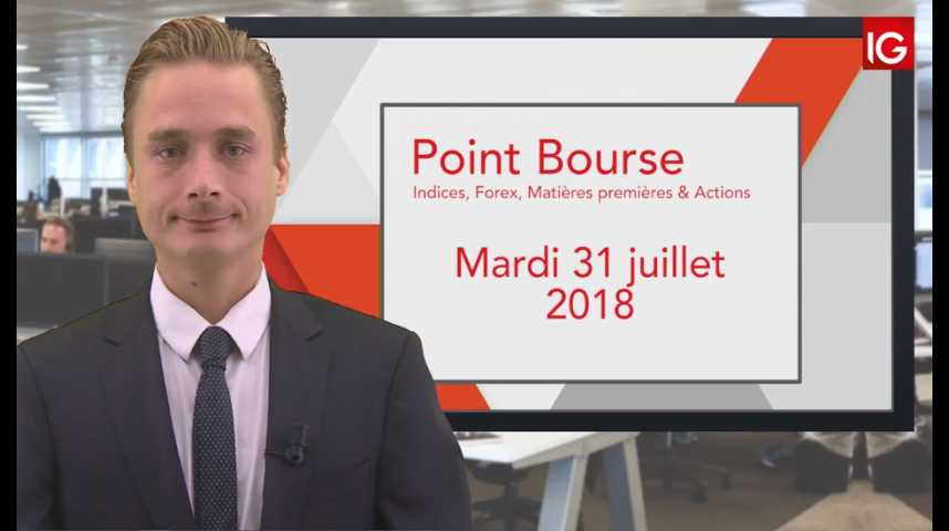 Illustration pour la vidéo Point Bourse IG du Mardi 31 juillet