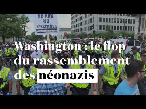Washington : le flop du rassemblement des néonazis