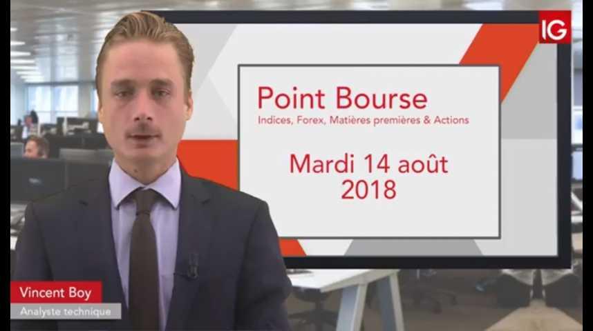 Illustration pour la vidéo Point Bourse du mardi 14 août 2018