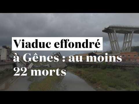Viaduc effondré à Gênes : au moins 22 morts