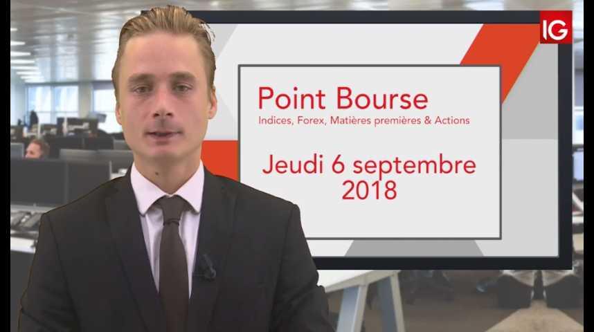 Illustration pour la vidéo Point Bourse IG du Jeudi 6 septembre