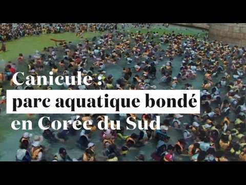 Canicule : un parc aquatique ulra-bondé en Corée du Sud