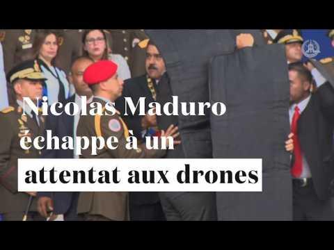 """Venezuela : le président Maduro échappe à un """"attentat aux drones"""""""
