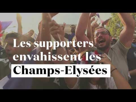 La France est championne : les supporters envahissent les Champs-Elysées