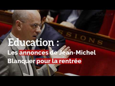 Classes dédoublées, portable, prime...  les annonces de Jean-Michel Blanquer pour la rentrée