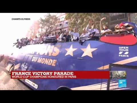 France victory parade: World Cup champions honoured in Paris