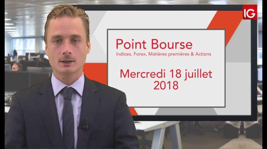 Illustration pour la vidéo Point Bourse IG du Mercredi 18 juillet
