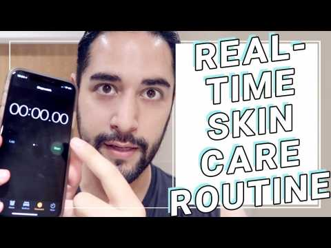 How Long My Skincare Routine REALLY Takes. Real-time, Non-edited Skincare routine  James Welsh