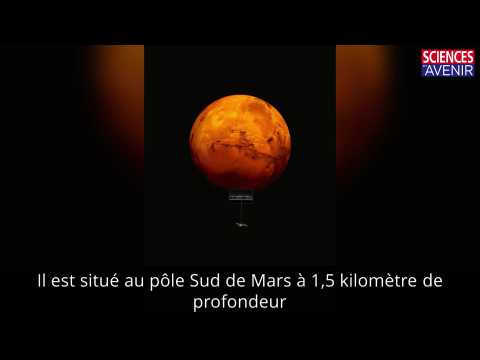 Un lac d'eau sur Mars