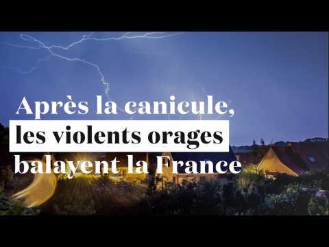 Après la canicule, de violents orages balayent la France