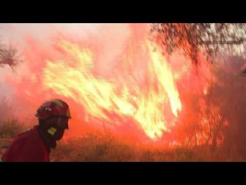 Firecrews in Spain and Portugal struggle to control wildfires