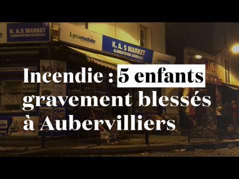 Incendie à Aubervilliers : cinq enfants gravement blessés