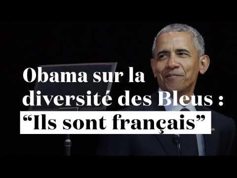 """""""Ils ne ressemblent pas tous à des Gaulois"""" : Barack Obama loue la diversité des Bleus"""