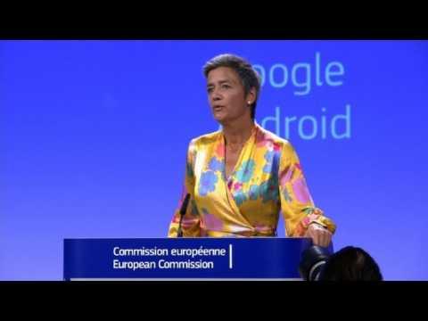 EU hits Google with record 4.34 bn euro fine