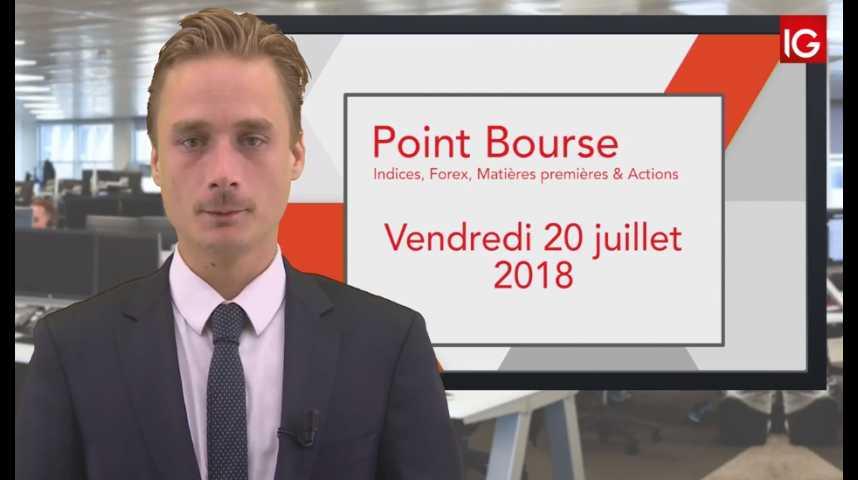 Illustration pour la vidéo Point Bourse IG du vendredi 20 juillet